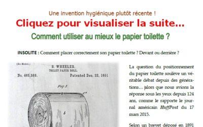 Histoire du papier toilette (sujet d'actualité) pour ceux et celles qui l'auraient oubliée