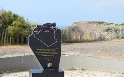 Stèle vandalisée au Cap d'Agde