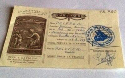 Lettre d'une Pupille de la Nation, Orpheline de Guerre à son Député M. Di FILIPPO Moselle