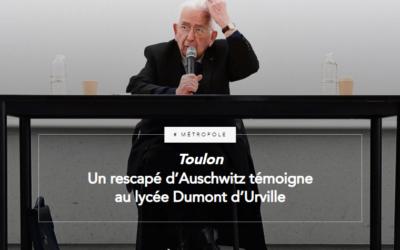 Un rescapé d'Auschwitz témoigne au lycée Dumont d'Urville