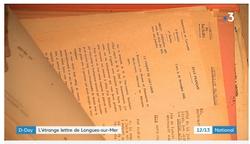 Débarquement 6 juin 1944 : l'étrange lettre de Longues-sur-Mer