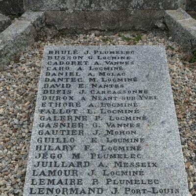 Les noms des martyrs