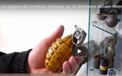 Les dangers des munitions expliqués par les démineurs de Caen-Normandie